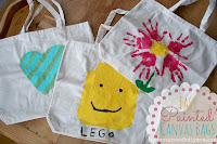 Painted Canvas Bags