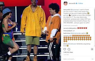 If you ever need a kidney, I got you-Cardi B tells Bruno Mars