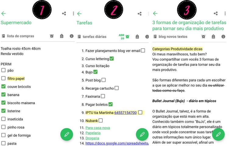 3 formas de organização de tarefas - Aplicativo - Tamaravilhosamente