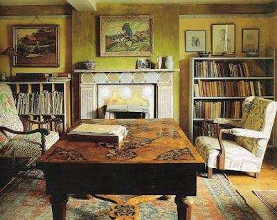 Sala-biblioteca de la casa de Virginia Woolf