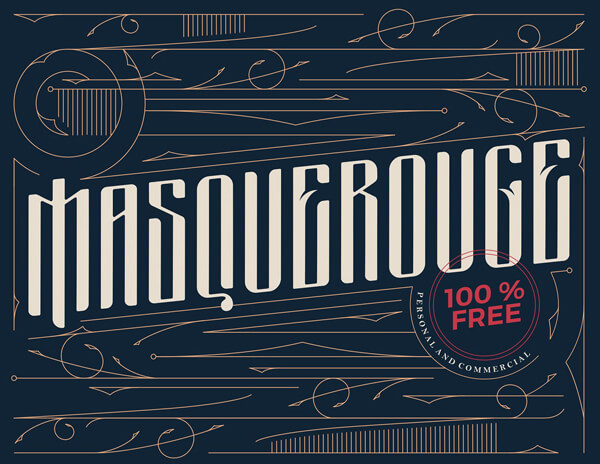 Free Font - Masquerouge Victorian Style Free Font