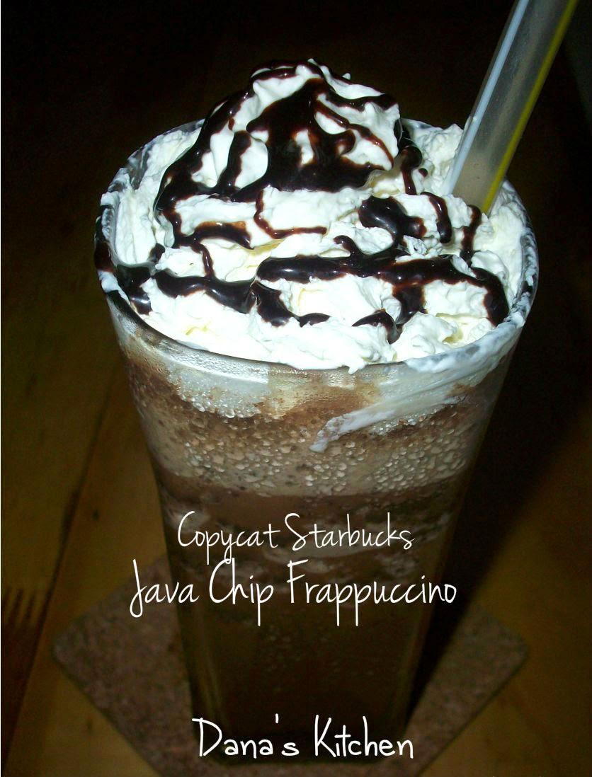 Dana S Kitchen Copycat Starbucks Java Chip Frappuccino