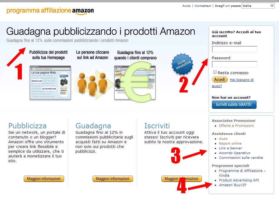Come guadagnare con Amazon e il suo Programma di Affiliazione