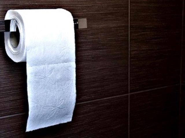 Tissue in the public toilet