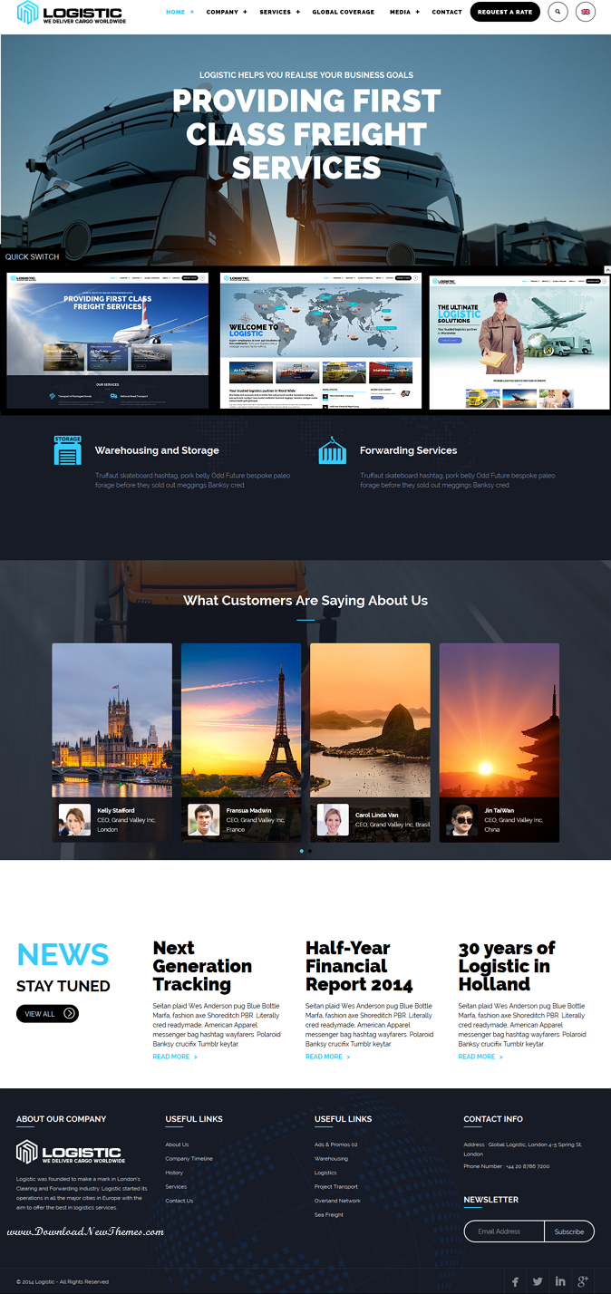 Transportation Business Website Theme