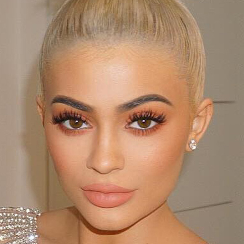 maquillage makeup blond brown Kylie Jenner