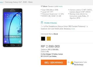 Harga Samsung Galaxy On7 dan promo
