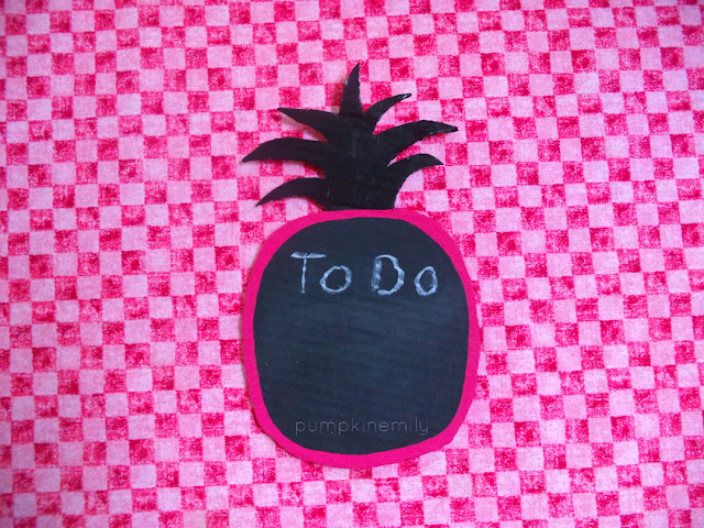 pineapple chalkboard