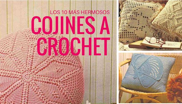 Los 10 Cojines a Crochet más hermosos que puedas imaginar