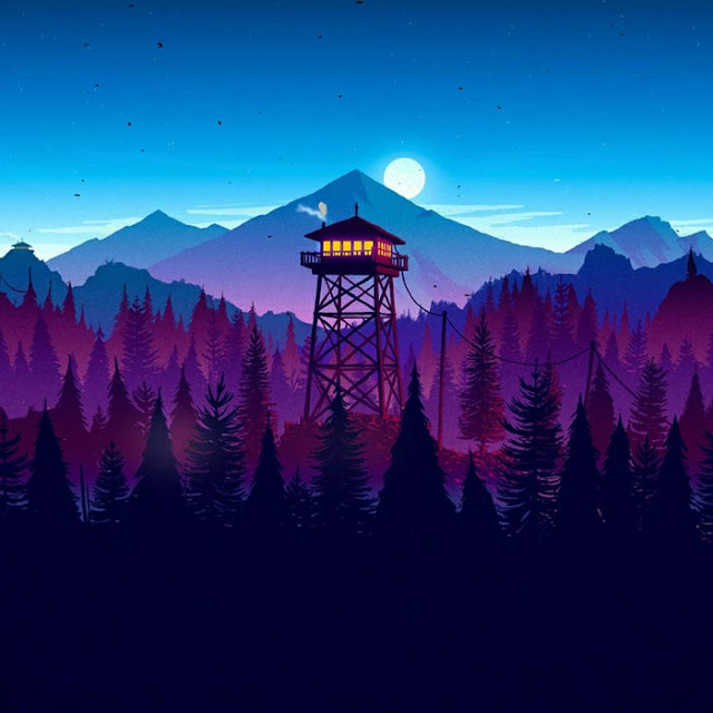 Firewatch Night Wallpaper Engine