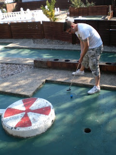 Crazy Golf at Earnley Gardens near Chichester, West Sussex