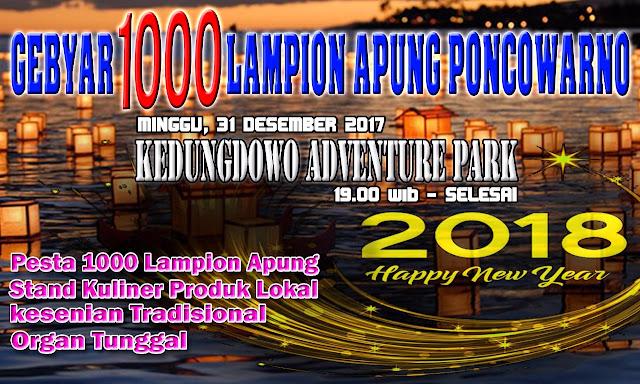 1000 Lampion Apung akan Mewarnai Malam Tahun Baru 2018 di Kedungdowo