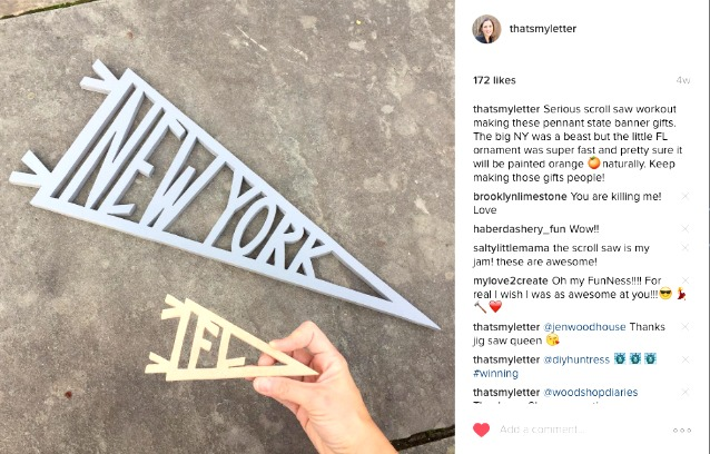 diy state pennants instagram