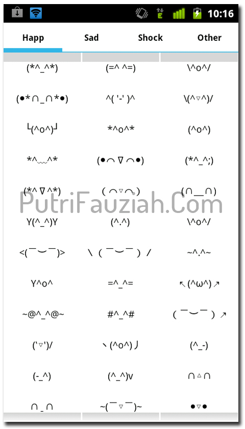 Sms-an dengan Emoticon Di Android