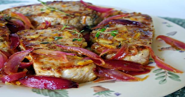 Orange-Mustard Glazed Pork Chops Recipe