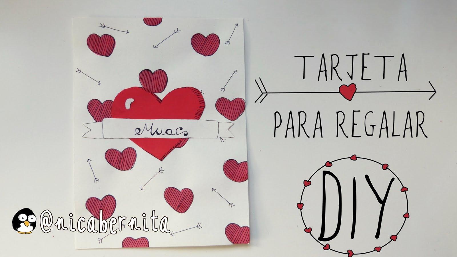 Diy Tarjeta Romantica Hecha A Mano