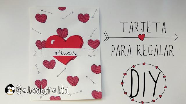 tarjeta corazón san valentín nica bernita