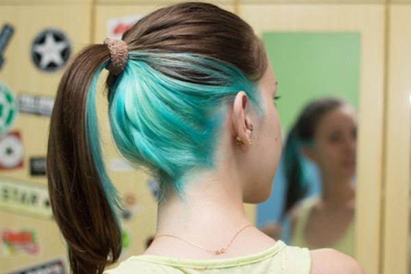 cabelo colorido discreto e fácil de esconder