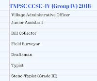 tnpsc group 4 2017 - 2018