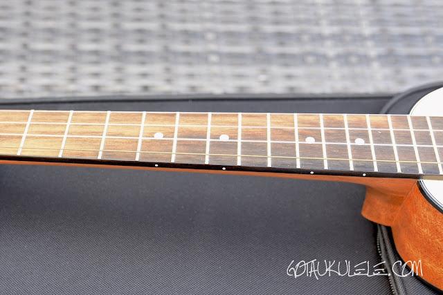 Romero Creations Tiny Tenor Ukulele fingerboard