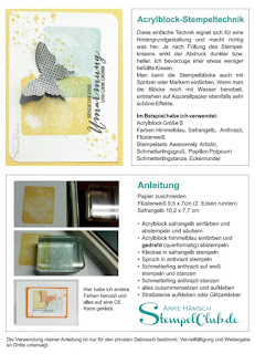 Acrylblock Stempeltechnik, Stampinup, Stempeltechnikbuch