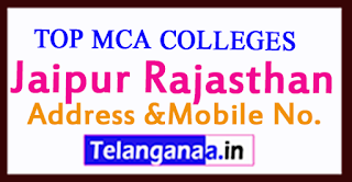 Top MCA Colleges in Jaipur Rajasthan