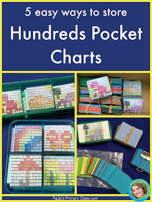 A new twist on an old favorite: hundreds POCKET charts!