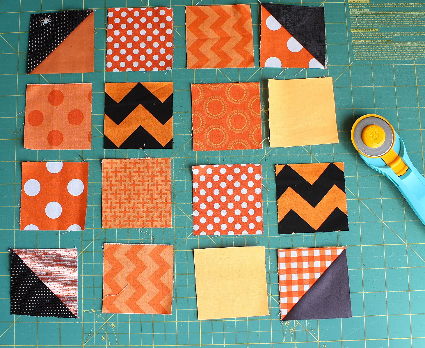 Patchwork Pumpkin pillow and table runner tutorial : pumpkin quilt patterns - Adamdwight.com