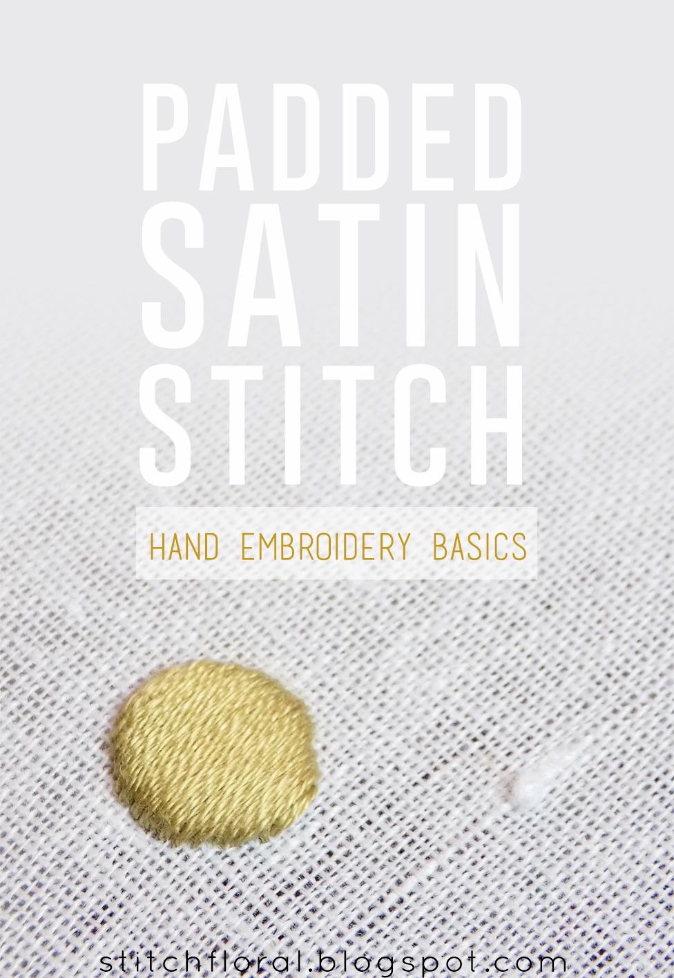 Padded Satin Stitch : padded, satin, stitch, Padded, Satin, Stitch, Tutorial, Floral