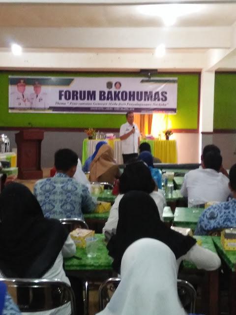 Kompol Khairullah SH MH menyampaikan paparan terhadap bahaya narkoba bagi pelajar dan masyarakat.