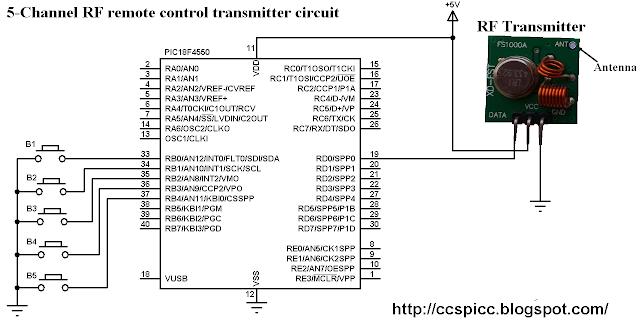 2 ch rf remote control
