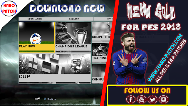 PES 2013 Gold Menu - RELEASED By Ismail DZ Game