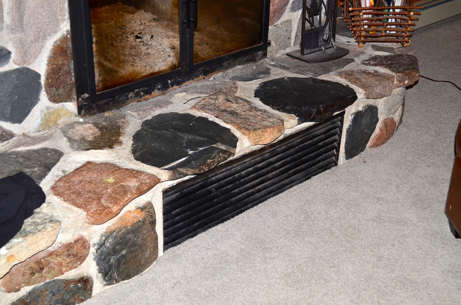 Artful Panoply Fireplace Vent Cover To Keep Out Draft