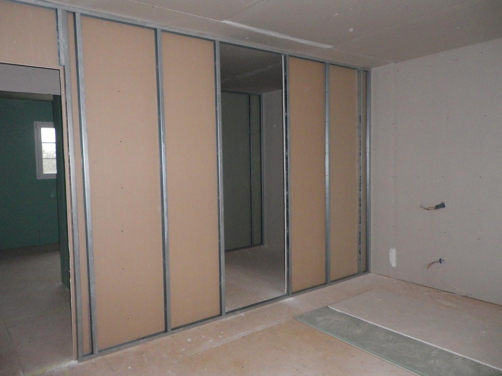 construction de notre maison pose des cloisons. Black Bedroom Furniture Sets. Home Design Ideas