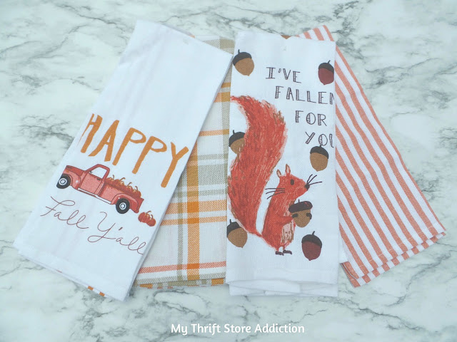 15 minute fall decor from repurposed dish towels