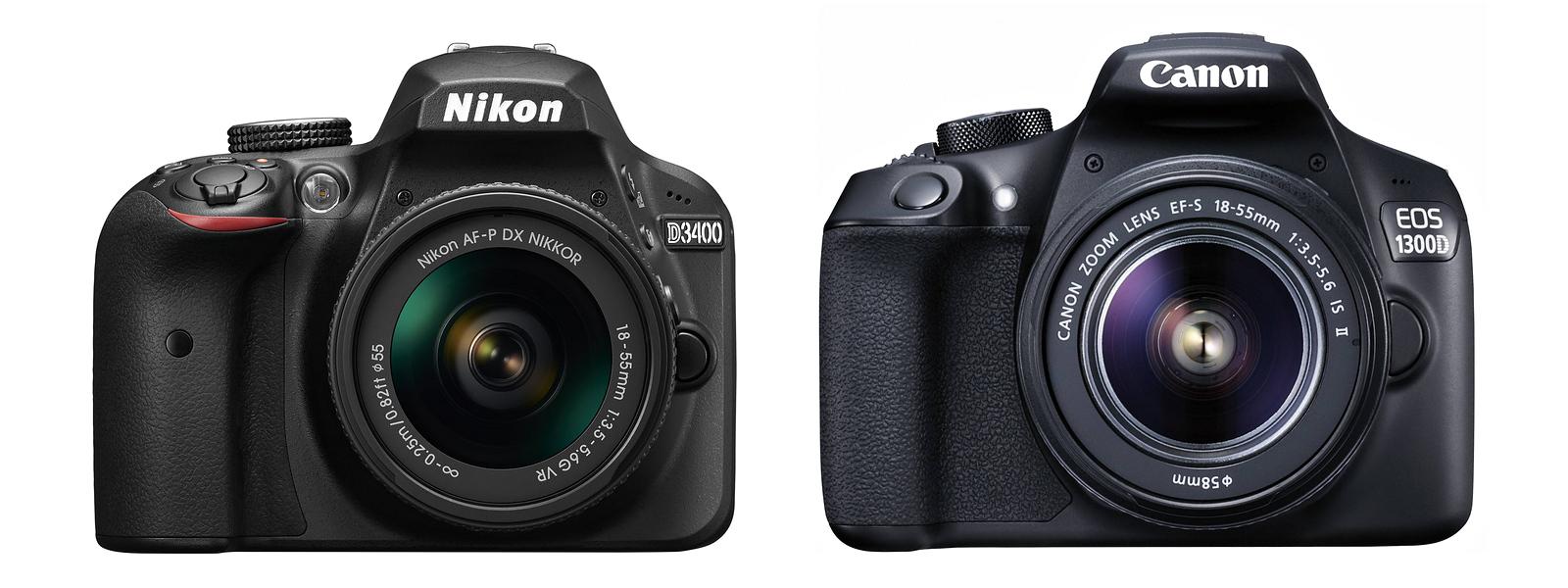 Сравнение Nikon D3400 и Canon EOS 1300D