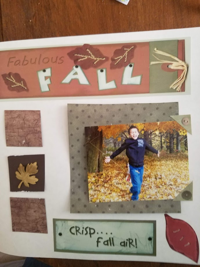 Fall scrapbooking