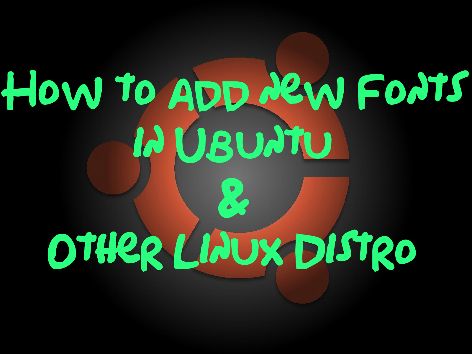 How To Add New Fonts In Ubuntu And Other Linux Distro How To Enable  Javascript