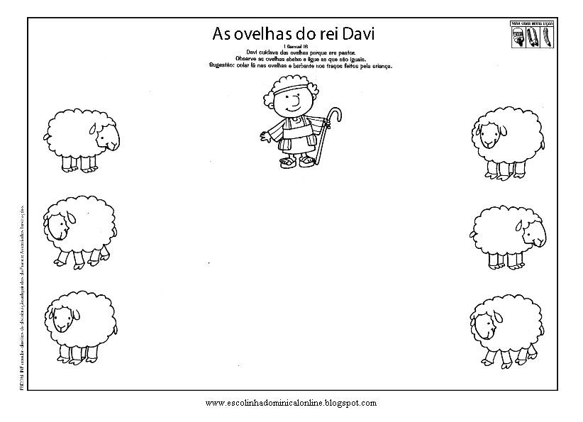 Dibujos Biblicos Para Colorear Del Rey David: Escolinha Dominical On Line: Atividades Biblicas- Davi