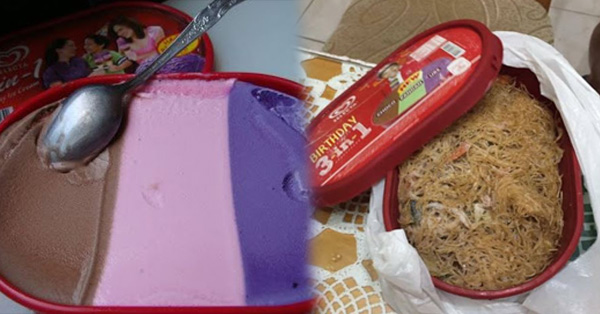 A Netizen Bought A 3-In-1 Ice Cream But What She Found Inside The Container Left Her In Shock!