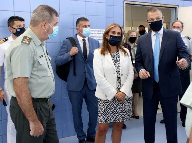 414 ΣΝΕΝ: Κοινή Επίσκεψη ΥΦΕΘΑ Στεφανή με Υφυπουργό Υγείας Ζωή Ράπτη συνοδεία Α/ΓΕΣ (ΦΩΤΟ)