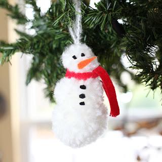 How to make a snowman pom pom ornament