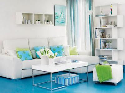 Decorar Salas em Azul