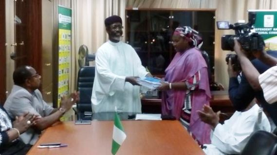Acting INEC Chairman Mrs. Amina Zakari Assumes Office