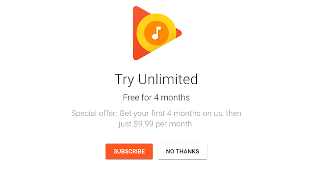 Kini Anda dapat berlangganan empat bulan Google Play Musik gratis