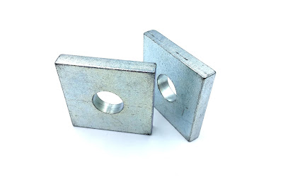 "Custom Large Square Washers - 3"" X 3"" In B633 Material"