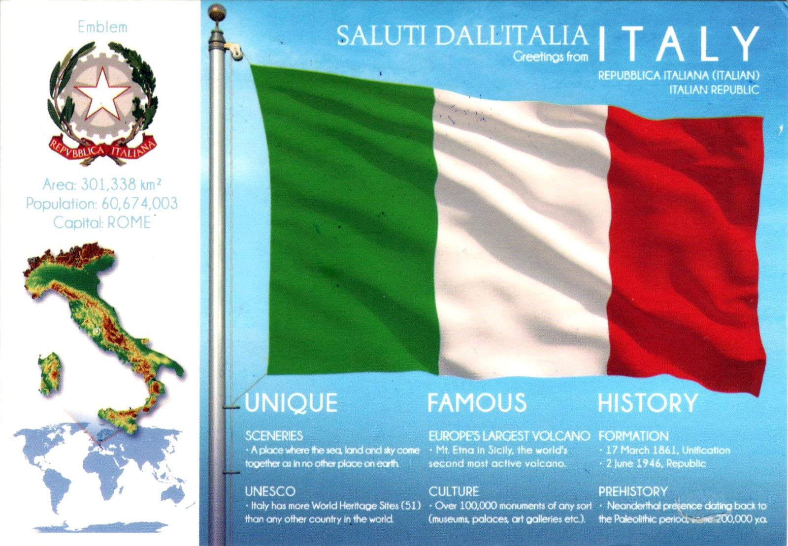 World come to my home 3137 italy the map and the flag of the 3137 italy the map and the flag of the country gumiabroncs Gallery