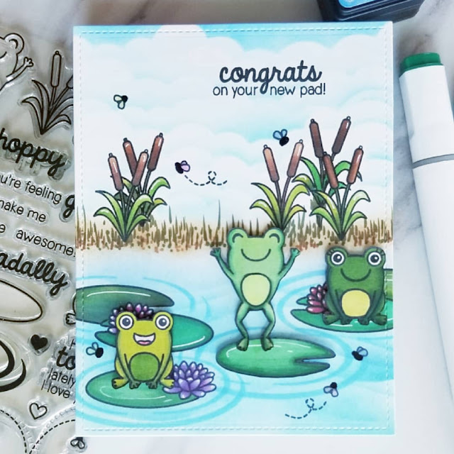 Sunny Studio Stamps: Froggy Friends Customer Card Share by Ana A