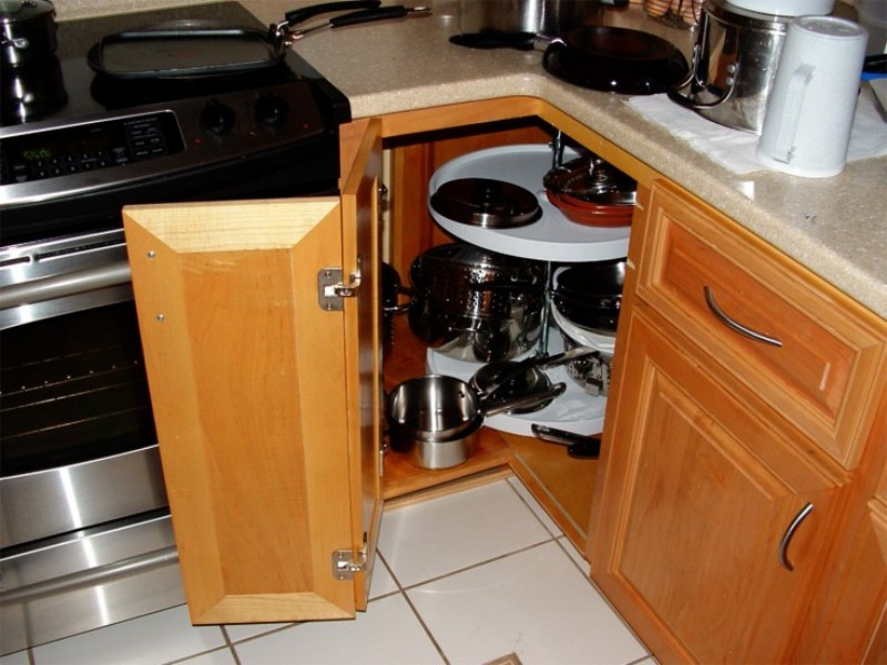 Get Creative With These Corner Kitchen Cabinet Ideas: 25 Creative Corner Kitchen Cabinet Ideas
