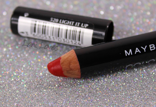 Maybelline Color Drama Lip Pencils - Light It Up Swatches & Review
